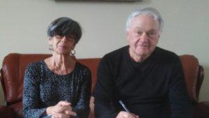 Françoise Andrieu et Jean-Claude Mage membres du bureau de la Cie La Plume de Sand.
